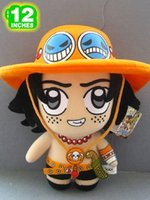 """Wholesale Japanese Dolls Videos - NEW arrival 12"""" Japanese Anime One Piece Plush Toy Cute Portgas D Ace Dolls Movies & TV Stuffed Toys"""
