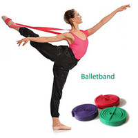Wholesale Elastic Bands For Fitness - Ballet Stretch Band for Ballet Dance Gymnastics Yoga Mult Sizes Fitness Resistance Bands Natural Latex Rubber Elastic