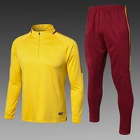 Wholesale Spanish Suit - 1718 Spanish champions football training new suit and Paulinho N lson Cabral Semedo yellow soccer training suit