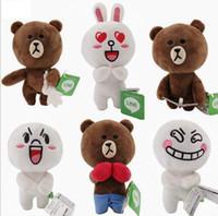 Wholesale Gift Toy For Girlfriend - 18cm Cute Brown Bear Plush Toy White Rabbit Stuffed Soft Doll Friend Plush Toy Kids Toy Gift For Girlfriend Christmas gift KKA3571