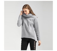 Wholesale Wholesale Women S Fashion Scarves - 2017 Women Autumn Hoodies Scarf Collar Long Sleeve Fashion Casual Women's Hoodies Rough Pullovers DHL Free