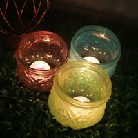 Wholesale Candles Glass Cups - Christmas gifts glass Candle Holders table romantic vintage fashion multicolour wedding candle cup decoration