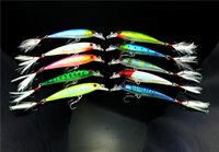 Wholesale bass feather fishing lures for sale - Group buy 2018 Bass Fishing swimbaits Lure cm g Walkdog Swimming minnow wobbler fishing hook Jerkbait with feather