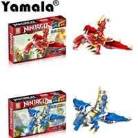 Wholesale Ninja Building Toys - [Yamala] Ninjagoes Dragon Building Block KAI JAY COLE ZANE Lloyd WU NYA GARMADON Ninja Toys Compatible with Lepin