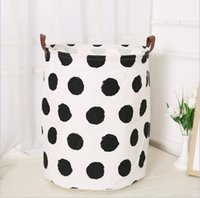 Wholesale Canvas Garage - Collection bag children with toy barrel genuine leather can canvas bag dirty clothes laundry basket hot sale sales promotion home decoration