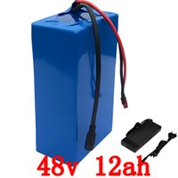Wholesale 48v battery li ion - Free customs taxes rechargeable lithium battery 48v 12ah lithium ion battery 48v 12ah li-ion battery pack +charger+BMS