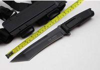 mangos de cuchillo micarta al por mayor-ENVÍO GRATIS EXTREMA VENOM 12''Nuevo mango ABS Cuchillo de caza Bowie 5MM Blade supervivencia Supervivencia VTH101