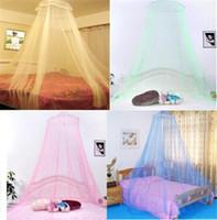 kanopiler için yatak takımı toptan satış-Zarif Yuvarlak Dantel Böcek Yatak Canopy Netleştirme Perde Dome Cibinlik Yeni Ev Yatak Dekor IB518