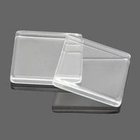 Wholesale Trays Glass Cabochons - Clear Square Flat Back Acrylic Glass Domed Magnifying Cabochons For DIY Photo Pendant Tray Setting