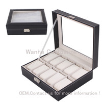 case manufacturing - Watch Box Leather Grid Slots Watch Jewelry Storage Display Case Organizer China Packaging Boxes Manufacture Drop Shipping