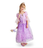 Wholesale st ball - 2017 New Girl Purple Frozen Dress Sophia Princess Dress Children Cosplay Costumes Clothing Baby Christmas Party Special Occasions Show Dress