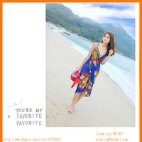 Wholesale Beach Wear Sun Protection - Summer beach Sun protection long dress Bohemian wear hot sellling item windwong wholesaler W144 free shipping by DHL courier Assorted color