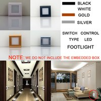 2.5W LED Wall Plinth Recessed Scale Lampade Step Portico Corridoio Corridoio Corridoio Luce diurna Illuminazione notturna Hotel Luci d'angolo