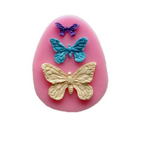 Новое прибытие Rushed Rubber Eco-friendly Mold Cupcake Diy Инструменты для выпечки Fondant Sugar Cake Bakeware Mold Three Butterfly Mold TY1772