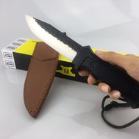 Wholesale Buck Pocket - BUCK A08 fixed blade dagger Tactical knife 5Cr13Mov Outdoor Survival Hunting Straight knife Outdoor gear EDC Pocket camping knives