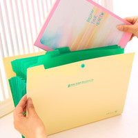 Wholesale Accordion Bag - Wholesale- Free shipping Waterproof Book A4 Paper File Folder Bag Accordion Style Design Document Rectangle Office Home School 4 Color