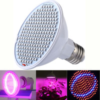 led aydınlatma satış aydınlatması toptan satış-Sıcak Satış Led Işıkları Büyümeye 24 W 200-LED Tam Spektrum Kapalı Bitki Büyümek Işık E27 Topraksız Sistemi Büyüyen Lambalar için Çiçek Veg