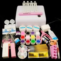 Wholesale Lamp For Gel Nails Kit - Tools Sets Kits 36W Lamp For Nails 12 Color UV Nail Brushes Nail Art Tools Base Gel Top Coat Gel