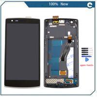 touchscreen digitalisierer lcd ein plus großhandel-Großhandels-New Black LCD Display Touchscreen Digitizer Assembly + Frame + Werkzeuge für One Plus One für One Plus 1 +, freies Verschiffen + Spur Nr.