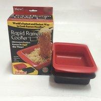 Wholesale Microwave Bowls - Hand-Pulled Noodles Bowl Red Black Microwave Quick Fast Microwave Ramen Noodles Bowl 2pcs Per Set 20pcs OOA2503
