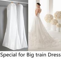Wholesale Cheap Quality Bags - Non-woven Big Skirt Train Dress Dust Bag Garment Dress Store have pocket High Quality Cheap 10 Piece per lot