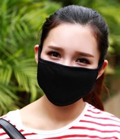Wholesale Anti Dust Masks Cotton Mouth Face Mask Unisex Man Woman Cycling Wearing Black Rider warm masks Fashion High quality