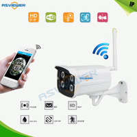 Wholesale Outdoor Cctv Camera Iphone - Bullet WiFi IP Camera 1080P Onvif P2P IR Outdoor Surveillance Night Vision Security CCTV Camera Android iPhone AS-IP830
