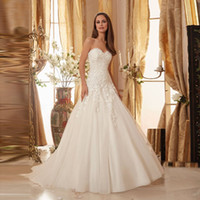 Wholesale Discount Short Simple Wedding Dresses - Discount Opulent Sweetheart Off Shoulder with Beading Custom Organza A-line Wedding Dresses 2017 Appliques
