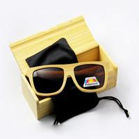 Wholesale Eyewear Bamboo - New arrived Bamboo men sunglasses&Wood sunglasses with polarized lens brand design eyewear hot seller CE UV400 protection