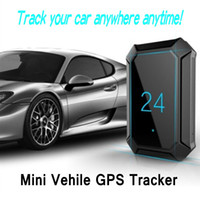 Wholesale Car Google Maps - Portable Mini GPS Tracker A10 GPS Tracker Locator for Car Vehicle with Google map 5000mah long battery life gsm gprs tracker Ann
