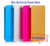 Wholesale External Mobile Devices Power - Slim Power Bank Metal Power Banks External Mobile Power Case for all Electronic Devices Cellphone Smart Equipments
