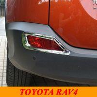 Wholesale Toyota Rear Light Cover - 2014 2015 Toyota RAV4 Rav 4 ABS Chrome Rear Fog Light Lamp Cover Trim Fog Light Cover Exterior Car Styling Accessories
