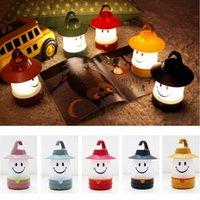 Wholesale Smiling Faces Lamps - LED Smile Face Night Light Childrens Bedroom Nursery Night Lamp Mini Emitting Children Room Decor Bedside Hanging Lamp