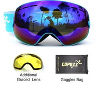 Wholesale Double Lens Ski Goggles - brand ski goggles 2 Lens UV400 double anti-fog ski goggles spherical big men women snowboard goggles the GOG-201 + lens..