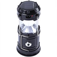 Wholesale Flashlight Neon Light - 7-LED Rechargeable Solar Camping Lantern LED Torch Flashlight Cycling Tent Lights for Outdoor Lighting Hiking EU Plug