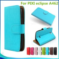 Wholesale Grand Flip Cover - For blu grand 5.5 HD For PIXI eclipse A462 Flip PU Leather pouch Walllet case cover inside Credit card slots with stand