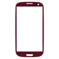 Wholesale Replacement Glass Galaxy S3 Red - Wholesale-Red LCD Front Touch Screen Glass Lens Replacement for Samsung Galaxy S3 SIII i9300 i747 i535 L710 T999 with Tools and Adhesive