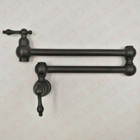Wholesale Rolling Shaft - Rolya Solid Brass ORB Kitchen Faucet Sink Mixer Taps Oil Rubbed Bronze Pot Filler Wall Mounted