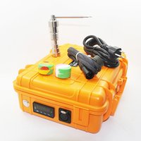 Wholesale electric oil bong for sale - Group buy Fancier Nail Pelic E Electric Dab Nail Box Kit with Gr2 Titanium Nails kit Temperature Controller w for Rig Oil Glass Bongs water pipe