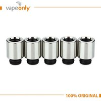 Wholesale E Cig Atomizer Replacement - Wholesale-5Pcs Lot Eleaf Melo 3 Replacement Mouthpiece E cig Metal Drip Tip for melo III   melo 3 mini Atomizer Tank Vaporizer Spart Part