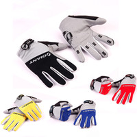 Wholesale Winter Mitts Wholesale - Hot 4Colors Full Finger Men Cycling Gloves Winter Mitts Mitten Bicycle Bike Riding Motorcycle Driving Cycling Ciclismo Anti-slip Outdoor DHL