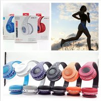 Wholesale Led Field Lighting - SNT-17 Bluetooth Headphone LED Lighting Headset With TF Card & Mic Fields Crack New Design Wireless Earbuds For IPhone Samsung LG