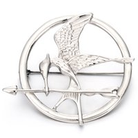 Wholesale Mocking Jay - Hot Sale Stainless Steel Brooch Hunger Game Mock Birds Brooch Laugh at birds Brooches for men and Brooch Jay Women