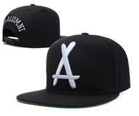 Wholesale Grey Brim Snapback - Tha Alumni Snapback big white A Adjustable hats , Cheap men's and women sports baseball caps , Flat Brim Hip Hop Cap