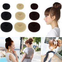 Hot Selling Hair Rubber Bands Hair Volumizing Scrunchie Donut Ring Style Bun Scrunchy Sock Poof Bump It Snooki 1000lot Livraison gratuite