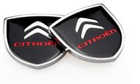 Wholesale Sticker Citroen - 1pair 39x39mm Car Styling Citroen Zinc Alloy Car Side Sticker Badge Emblem car sticker Mark High Qulity fit for Citroen