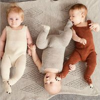 Wholesale Baby Girl Soft Pajamas - baby knitting romper autumn new style soft newborn baby boys girls one-pieces woolen jumpsuit cute pajamas baby clothes