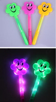 Wholesale Hot Rod Cartoons - Hot Concert support flash stick cartoon led fluorescent rod glow Christmas party
