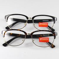 Wholesale Demo Lenses - New Fashion Men Women Glasses Eyewear Eyeglasses Fullrim Frame Spectacles Optical RX Clear Demo Lenses Oculos Black Bookworm Leopard 818