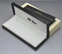 boites de noël en bois achat en gros de-Boîte de cadeau de luxe Top Grade en bois noir en bois boîte avec le manuel de garantie pour l'emballage de cadeau d'anniversaire de Noël Valentine boîte de stylo de marque MB